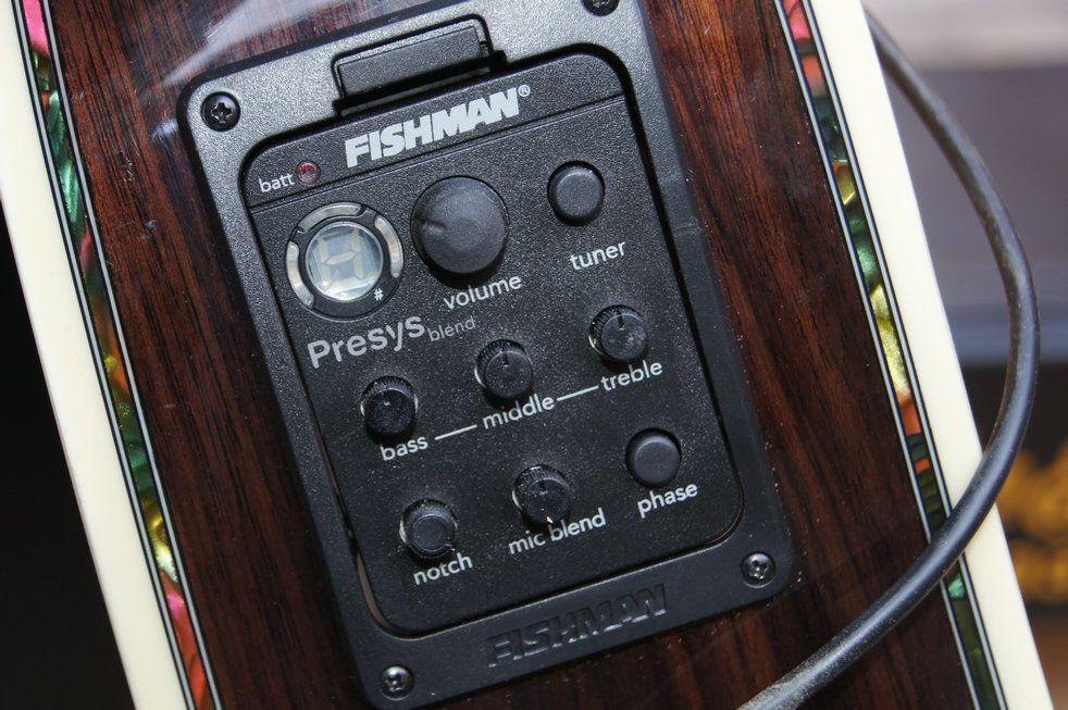 Fishman presys mistura 301 Dual Mode Guitarra Preamp EQ Tuner Piezo Pickup Sistema Equalizador Com Mic Beat Board Em Estoque