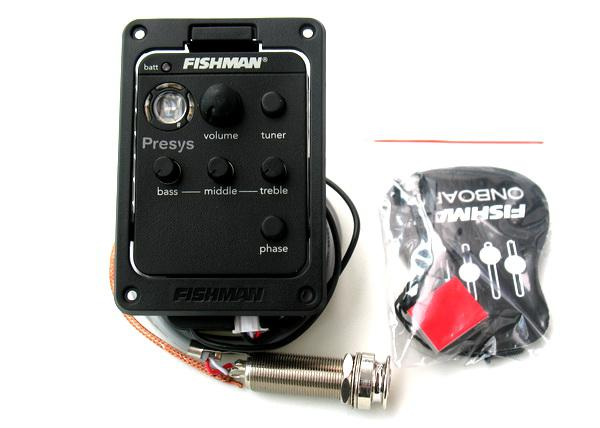 Fishman Presys Plus 201 Acoustic Guitar Pickup & Preamp Built-in Tuner & EQ PSY-201 NEW!!!