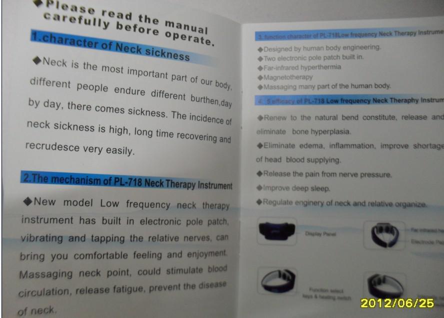 Machine thérapeutique cervicale infrarouge de massage d'instrument de thérapie cervicale avec la machine de contrôle de ligne