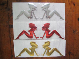 $enCountryForm.capitalKeyWord Canada - 30PCS LOT 3d PVC Mermaid sea-maid Funny Car Badge Emblems 16*5cm mix color Funny Car Decals Stickers