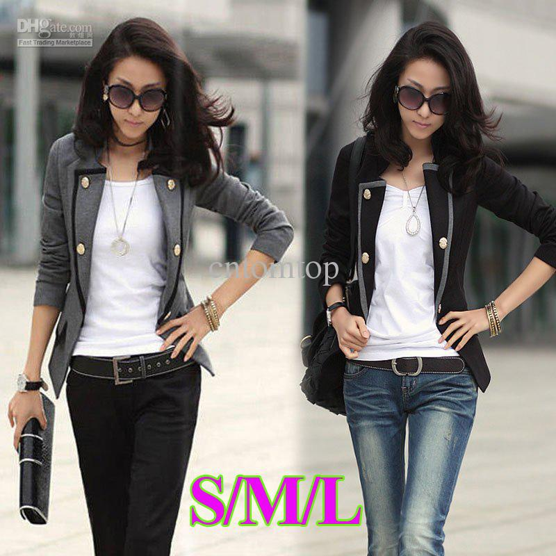 New Fashion Spring Autumn Women Blazer Jacket Ladies Casual Suit ...