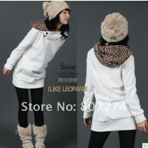 2018 Wholesale Spring Women Cute Leopard Hoodie Cotton Pullover ...
