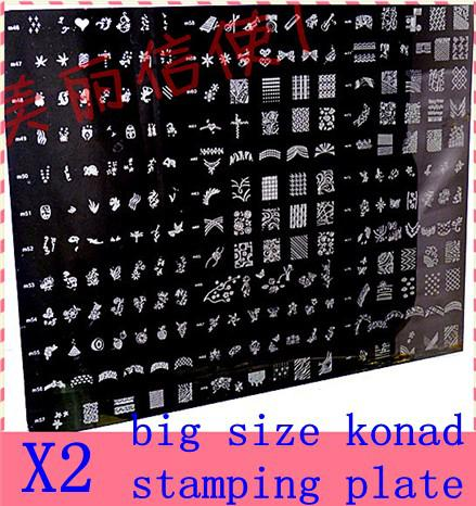 Big Size Konad Stamping Plate Stamp Image Nail Art DIY Template Brush Machine From Wholesale1095