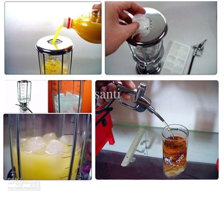 6 قطعة / الوحدة الساخن بيع واحدة البيرة آلة السائل طلقات بندقية محطة الغاز موزع المشروبات