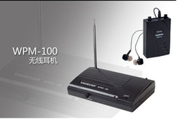 Wholesale Wireless Monitor System In-Ear Stereo Wireless Headphones & Earbuds Computer TV Home Enterta WPM-100