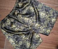 Wholesale Silk Boxers Wholesale - Men's silk feeling Satin Boxers Underwear Homewear shorts 20PCS LOT#2257