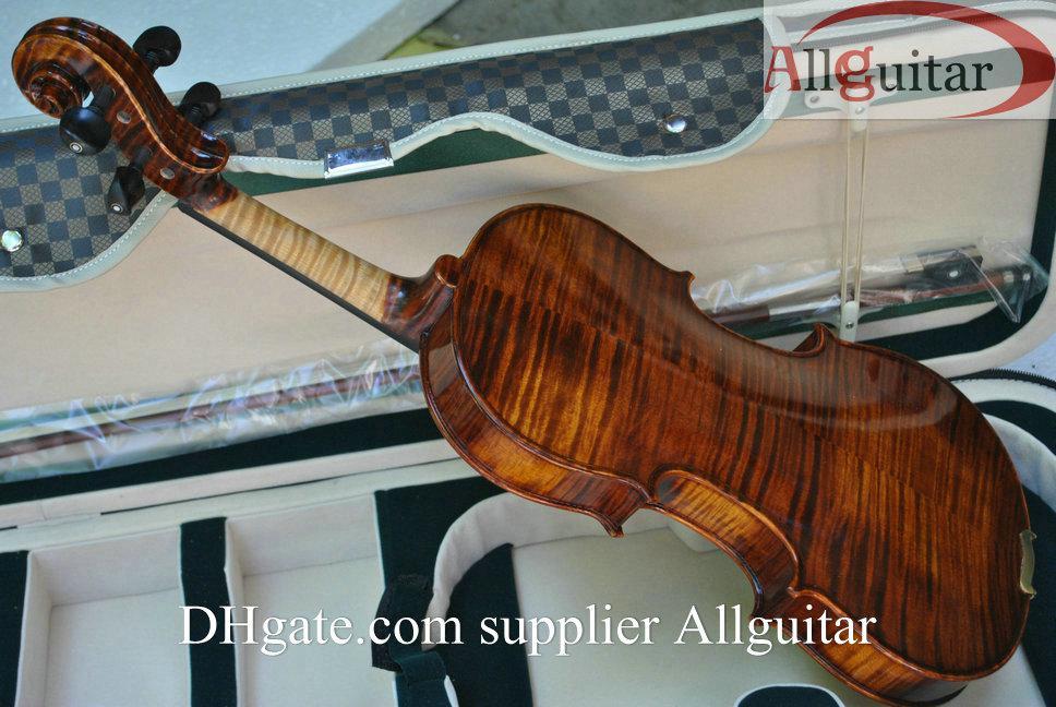 Violon de luxe 15 ans en épicéa avec violon Strad naturellement séché à l'air avec étui