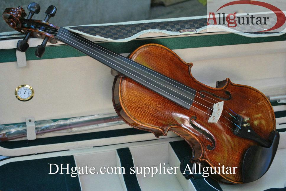 디럭스 바이올린 15 년 스프루스 탑과 자연 건조 에어 스라 드 바이올린 케이스 포함