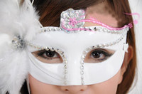 Side feather masks Halloween masquerade masks Venetian masks...