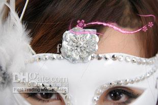 Masques de plumes latérales Masques de mascarade d'Halloween Masques vénitiens Masque de fête masque de beauté