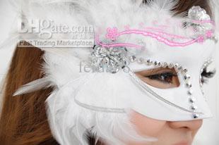 Seitliche Federmasken Halloween Maskerade Masken Venezianische Masken Prinzessin Maske Party Maske Schönheit