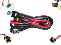 Wholesale H13 Hid Harness - 1 piece H13 Car HID Xenon Conversion Harness Fuse Relay Wire Wiring car Vehicle relay wire