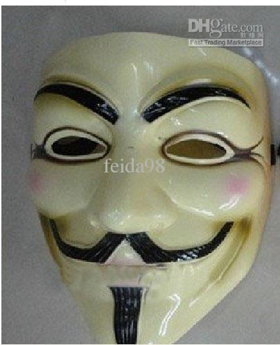 vingança equipe cara fawkes masquerade Carnaval de Halloween Máscara tamanho adulto, 40g, amarelo claro, / CPA