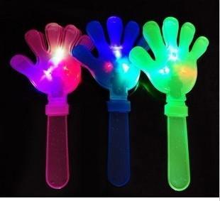 EMS rapide livraison gratuite !! Clignotements de la main Flash LED clignotant allume jouet de nouveauté, glow glap, cadeaux de fête