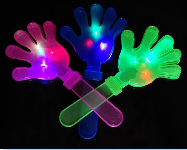 EMS rápido frete grátis !! Flash LED mão aplausos piscando luz novidade brinquedo, brilho glaps, presentes do partido