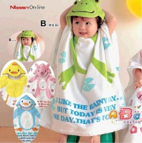 EMS Free Shipping 12 Pcs Nissen Baby Toddler Bath Gown Beach Swimming Towel shower Robe washcloths