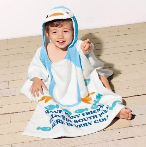 EMS Nissen Baby Toddler Bath Gown Beach Swimming Towel shower Robe washcloths
