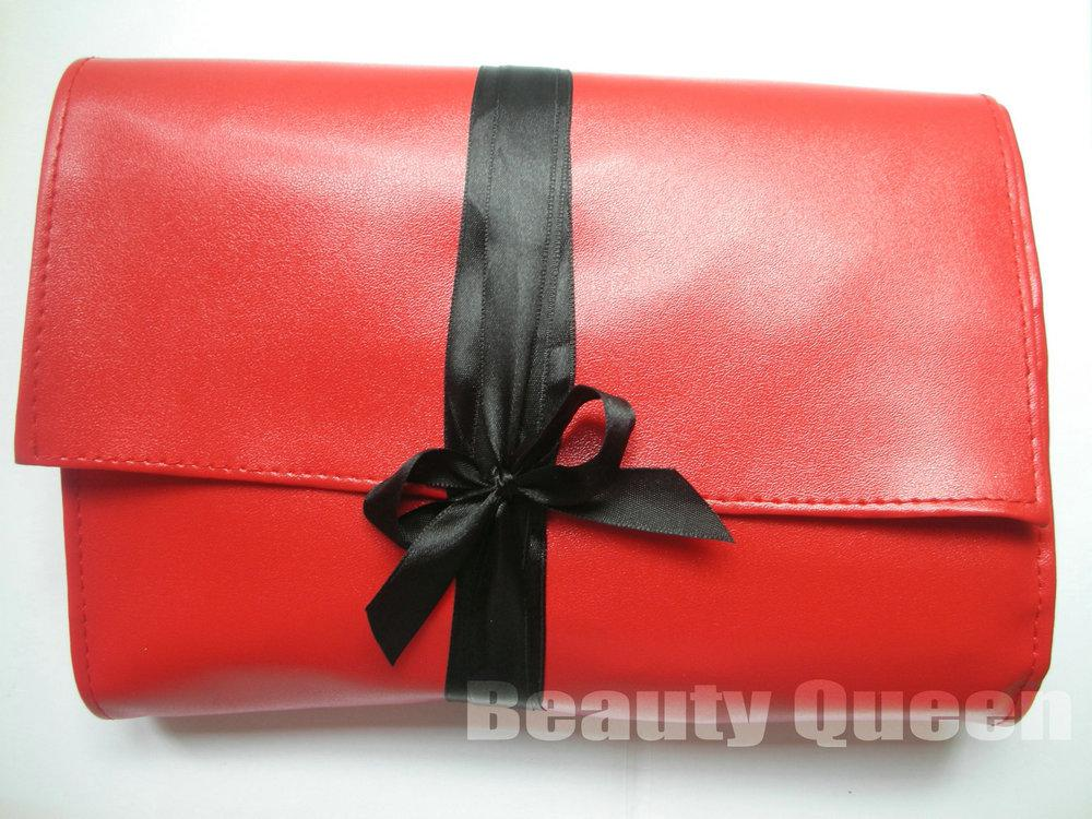 Professional Makeup Brushes Cosmetic Set High Quality GOAT HAIR Red Bag Leather Pouch Case NEW