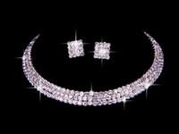 estoque de conjuntos de cama venda por atacado-Em estoque 100% mesmo que a imagem New Bridal Rhinestone Bedding jóias acessório pageant colar brinco set