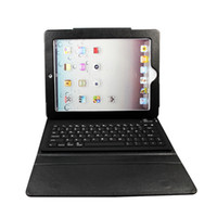 For Apple Yes For Ipad2 free shipping Leather Wireless Bluetooth keyboard cover protector for new ipad3 ipad2