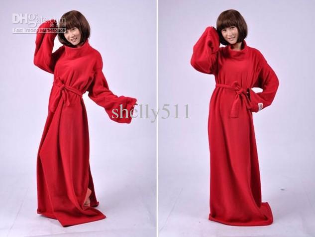 Lazy Sleeve Blanket / Luftkonditionering Täcken / Robe Navy Blue