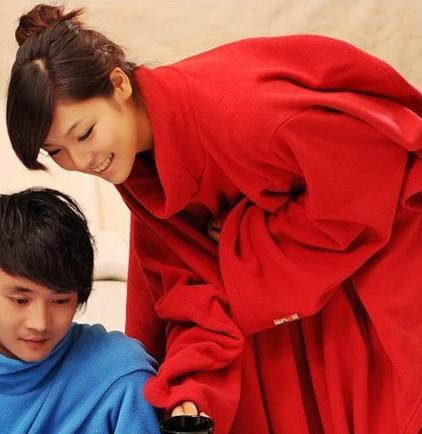 preguiçoso manga cobertor / ar condicionado cobertor / manto azul marinho