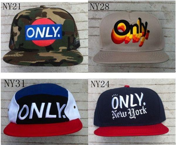 Yeni varış sadece ny new york snapback şapkalar özel moda şapka snapbacks snap back cap karışık 137