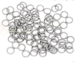 Wholesale Split Ring 5mm - 1000pcs Strong 316L Stainless Steel Jump Ring 0.8*5mm