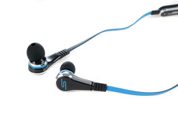Wholesale Earphones Controltalk - SMS Audio street by 50 cents earphone with controlTalk Black   White color 1pc EMS free shipping