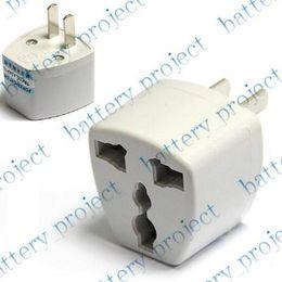 Wholesale Euro Ac Power Plug - AC UK Euro EU to US USA AC power Plug Converter Travel Charger Adapter convertor 20pcs lot hk cn pos