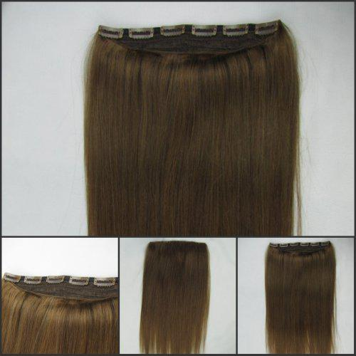 Medium brown one piece clip inon human hair extensions 8 1620 medium brown one piece clip inon human hair extensions 8 162024inch 5 clips 100gpiece pmusecretfo Gallery