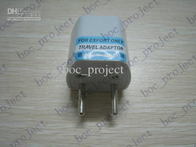 Universal AU EE. UU. Reino Unido a UE Adaptador de viaje Adaptador de viaje Toma de corriente de enchufe 1000 unids / lote