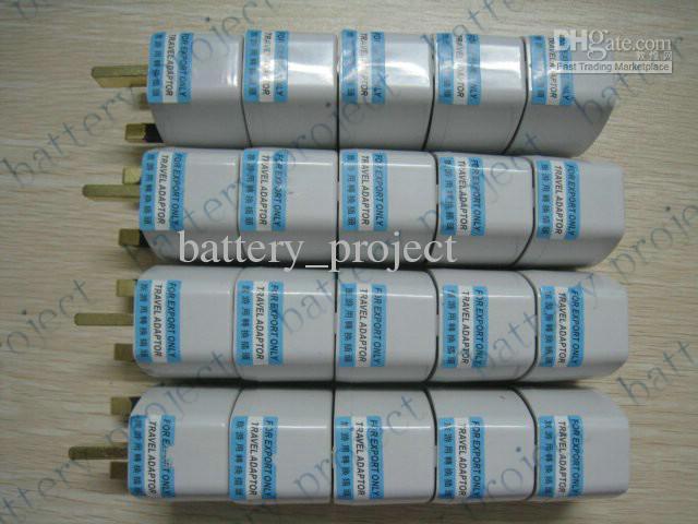 EE. UU. AU de la UE al Reino Unido Adaptador de Enchufe de CA Convertidor de Enchufe de Enchufe de Alimentación de CA Socket 100 unids / lote
