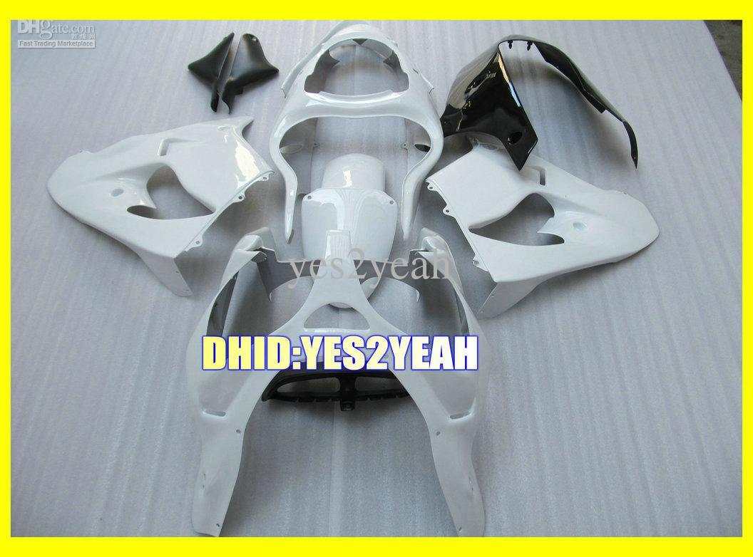 All White Fairing Body Kit för Kawasaki Ninja ZX-9R ZX9R 2000 2001 Bodywork ZX 9R 00 01 Motorcykel Fairings Set + 7Gifts