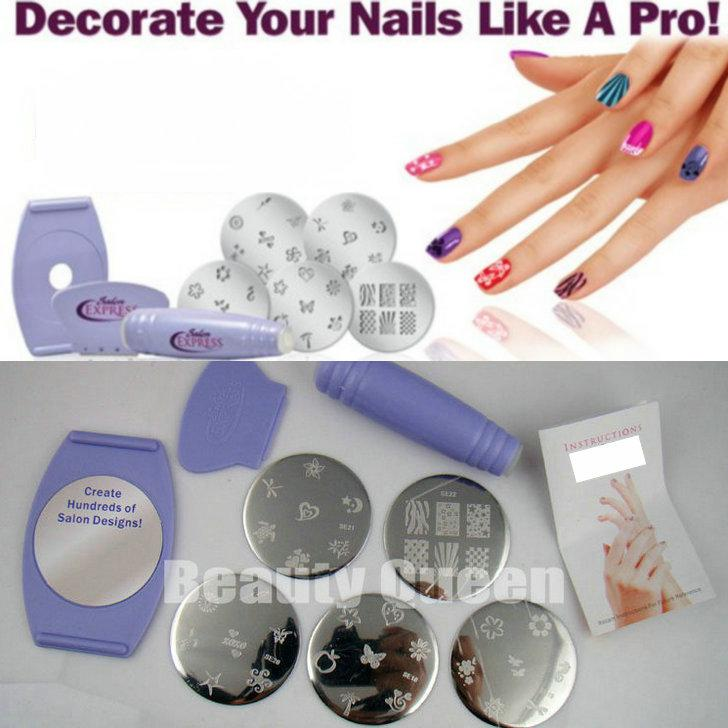 Nail art stamping kit image stamp plate designs stencil diy print nail art stamping kit image stamp plate designs stencil diy print printing machine w retail package nail art template stickers nail art templates download prinsesfo Images