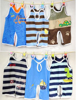 Wholesale Adult Romper Wholesale - Baby Boys and Girls Designer Clothes Adult Baby Clothing Summer Wear Cotton Infant Romper Jumpsuits