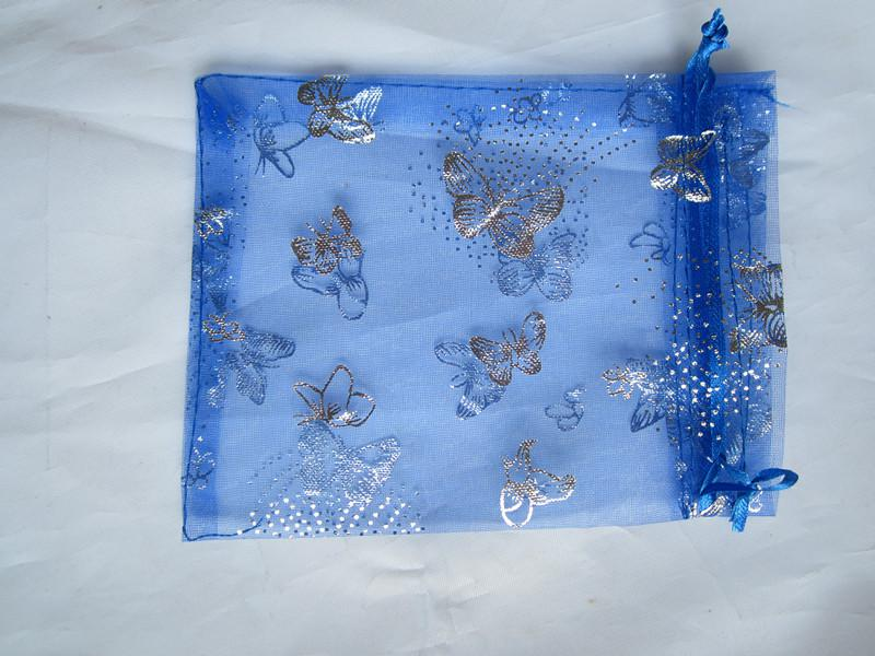 Hotsell argento farfalla farfalla sacchetto del regalo di nozze sacchetto di imballaggio dei monili di natale 100 pz colori misti spedizione gratuita