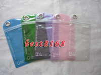 Wholesale Iphone 4s Proof Case - Water proof Zipper Plastic Retail bag Package packing packaging for Iphone 3G 4G 4 4s 5 5G 5C 5S case cases 100pcs