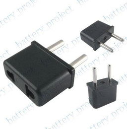 AU or US to EU AC power Plug Converter Travel Charger Adapter Outlet Convertor Socket black 500pcs