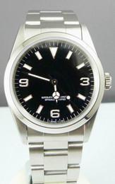 Wholesale Mechanical Watch 36mm - Rare Mens Automatic II Watch 36mm Black Dial Men Dive Watches 114270 Sport Wristwatch