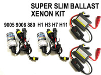Wholesale Ac Kit Cars - 35W AC SLIM CAR HID CONVERSION KIT HID XENON KIT H1 H3 H7 H8 H9 H10 H11 880 9005 9006 6000k,8000k...