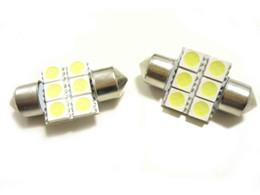 2019 lâmpadas de luzes led vermelhas Cor branca 36mm 31mm 39mm 41 / 42mm das ampolas da abóbada do festão do diodo emissor de luz de 100 * 6smd 5050