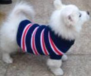 Envío gratis ropa para mascotas perro abrigo suéter de la ropa cruz raya cuello redondo cuello alto XS S M L XL m