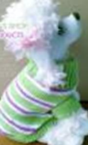 Gratis frakt Hund Pet Clothes Coat Apparel Sweater Cross Stripe Round Neck High Collar XS S M L XL M