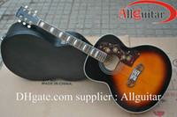 Wholesale Acoustic Dreadnought Guitar Rosewood - J200 acoustic Dreadnought guitar Vintage Sunburst China Guitar