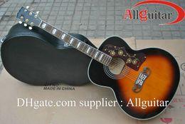Wholesale China Rosewood - J200 acoustic Dreadnought guitar Vintage Sunburst China Guitar