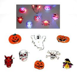 $enCountryForm.capitalKeyWord Canada - Halloween flash brooch LED badge Flash the Triangle pumpkin pirate skull ghost demon Tree