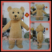Wholesale Mascot Yellow Bear - adult size The Fuzzy Teddy Bear mascot costume fancy dress party outfit dropshipping