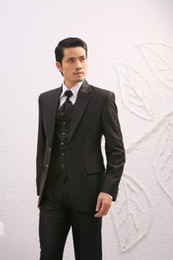 Wholesale Christmas Weddings Tuxedos - Top Quality Men's Suits Wedding Tuxedos Prom Clothing <jacket+pants+tie+vest>A 10
