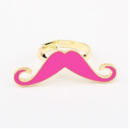 個人化されたリングの金属の質感がかわいい可能性のある口ひげの開口リング